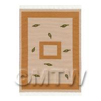Dolls House Art Deco Small Rectangular Carpet / Rug (adsr06)