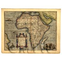 Dolls House Miniature Old Map Of Africa From The Late 1500s
