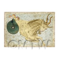 Dolls House Miniature Aged 1820s Star Map Depicting Capricorn