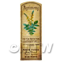 Dolls House Herbalist/Apothecary Agrimony Herb Long Colour Label