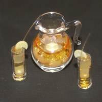 Dolls House Miniature Jug and Glass Set.