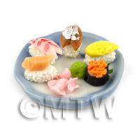Dolls House Miniature Handmade Sushi Selection on a Plate