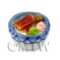 Dolls House Miniature Handmade Sushi Selection in a Bowl