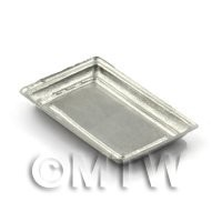 Dolls House Miniature 40mm Rectangular Metal Tray