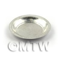 Dolls House Miniature 37mm Round Aluminium Tray