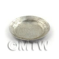 Dolls House Miniature 47mm Round Aluminium Tray