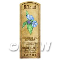 Dolls House Herbalist/Apothecary Alkanet Herb Long Colour Label