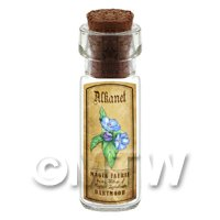 Dolls House Apothecary Alkanet Herb Short Colour Label And Bottle