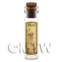 Dolls House Apothecary Alkanet Herb Long Sepia Label And Bottle
