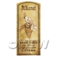 Dolls House Herbalist/Apothecary Alkanet Herb Short Sepia Label