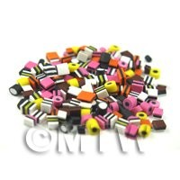 100 Mixed Handmade Dolls House Miniature Liquorice Allsorts