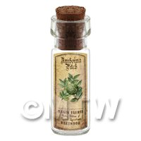 Dolls House Apothecary Amboina Pitch Herb Short Colour Label And Bottle
