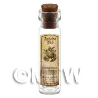 Dolls House Apothecary Amboina Pitch Herb Long Sepia Label And Bottle