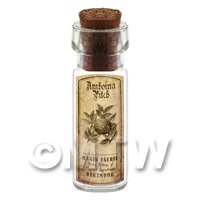 Dolls House Apothecary Amboina Pitch Herb Short Sepia Label And Bottle