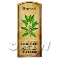 Dolls House Herbalist/Apothecary Aniseed Herb Short Colour Label