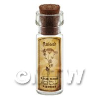 Dolls House Apothecary Aniseed Herb Short Sepia Label And Bottle