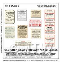 Set of 8 Miniature Apothecary Labels - Set 6
