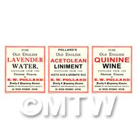 Set of 3 Miniature Apothecary Labels - Set 5