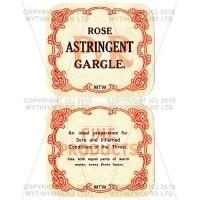 Rose Astringent Gargle 2 Part Apothecary Label