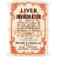 Liver Invigorator Miniature Apothecary Label