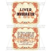 Liver Invigorator 2 Part Apothecary Label