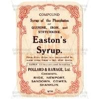 Eastons Syrup Miniature Apothecary Label