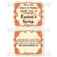 Eastons Syrup 2 Part Apothecary Label