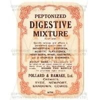 Peptonized Digestive Mixture Miniature Apothecary Label