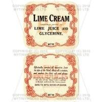 Lime Cream 2 Part Apothecary Label