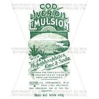 Cod Liver Oil Emulsion Miniature Apothecary Label