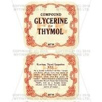 Compound Glycerine Of Thymol 2 Part Apothecary Label