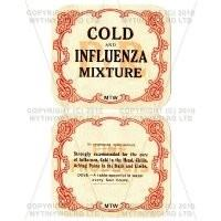 Cold and Influenza Mixture 2 Part Apothecary Label