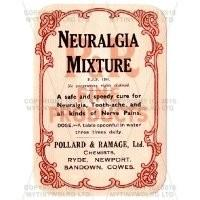 Neuralgia Mixture Miniature Apothecary Label