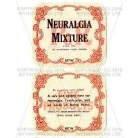 Neuralgia Mixture 2 Part Apothecary Label