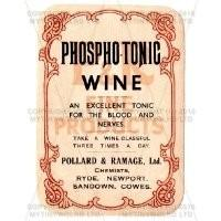 Phosphot Tonic Wine Miniature Apothecary Label