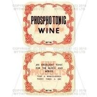 2 Part Apothecary Label - Phospho - Tonic Wine