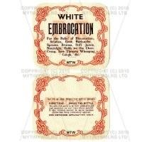 2 Part Apothecary Label - White Embrocation