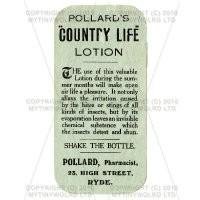 Country Life Lotion Miniature Apothecary Label