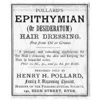 Epithymian Hairdressing Miniature Apothecary Label