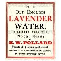 Lavender Water Miniature Apothecary Label