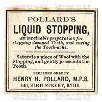 Liquid Stopping Miniature Apothecary Label