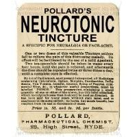 Pollards Neurotonic Tincture Miniature Apothecary Label