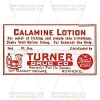 Calamine Lotion Miniature Apothecary Label