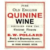 Quinine Wine Dolls House Miniature Apothecary Label