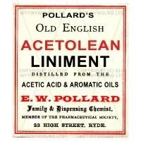 Acetolean Liniment Miniature Apothecary Label
