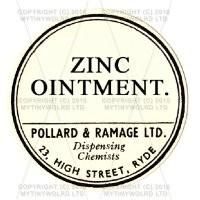 Zinc Ointment Miniature Round Apothecary Label