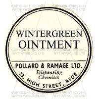 Wintergreen Ointment Miniature Round Apothecary Label
