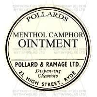Menthol Camphor Ointment Miniature Round Apothecary Label