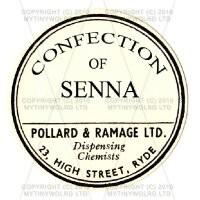 Confection Of Senna Miniature Round Apothecary Label