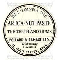 Areca Nut Paste Miniature Round Apothecary Labe